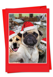 2373DXS - Holiday Animal Selfie: Note Card
