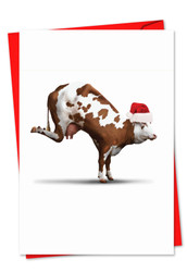 6545GXS - Holiday Bovine Nirvana: Greeting Card
