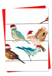 3318JXS - High Wire Birds: Note Card