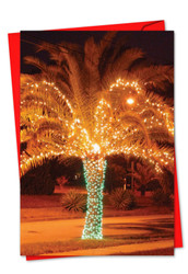 3273AXS - Holiday Palms: Paper Card