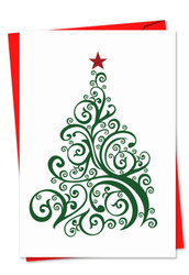Just Fir You, Printed Christmas Thank You Greeting Card - C5019DXT