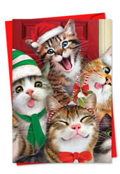 6652HXS - Merry Christmas To Zoo: Greeting Card