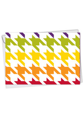 Nothing But A Houndstooth, Printed Thank You Greeting Card - C6559FTYG