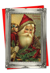 1746DXS - Picture-Perfect Santas: Note Card