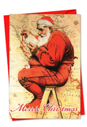 6036IXS - Rockwell Holidays: Note Card
