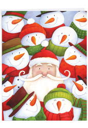 Santa Selfies, Jumbo Christmas Note Card - J6738AXSG