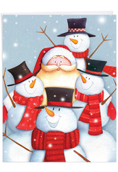 Santa Selfies, Extra Large Christmas Greeting Card - J6738HXSG
