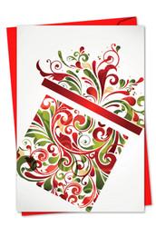 C6030AXS - Seasonal Swirls: Note Card