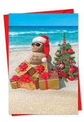 6651EXS - Season's Beachin': Note Card