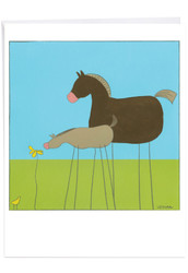 J6656CTY - Stick Legs: Over-sized Paper Card