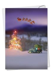 C6689CXS - Toy Trucks 'N Trees: Greeting Card
