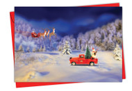 6689EXS - Toy Trucks 'N Trees: Note Card