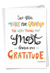 C9633ETY - Words Of Appreciation: Printed Card