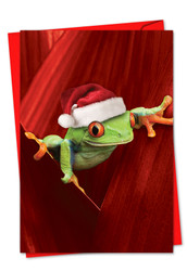 1754EXS - Yule Frogs: Paper Card