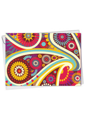 Crazy For Paisley, Printed Thank You Greeting Card - C6570ITYG