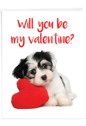 J3470VD - Puppy Heart: Over-sized Greeting Card