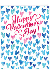 J3503VD - Blue Hearts: Extra Large Greeting Card