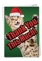 C2368CXT - Cat Big Thanks: Note Card