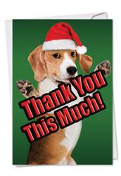 C2369DXT - Dog Big Thanks: Paper Card