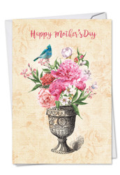 Blooming Urns, Printed Mother's Day Greeting Card - C6585HMDG