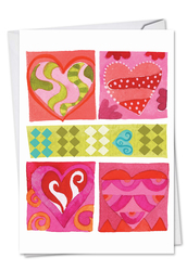 C6725DVD - Art Hearts: Printed Card