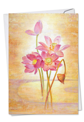 C6728BMD - Floral Harmony: Paper Card