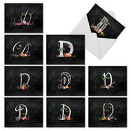 M3836OC - Chalk And Roses Initial D: Mixed Set of 10 Cards