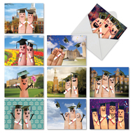 M3851CG - Graduation Digits: Assorted Set of 10 Cards