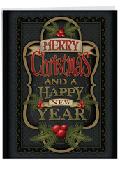Chalk Up Another Holiday, Extra Large Christmas Note Card - J3297GXSG