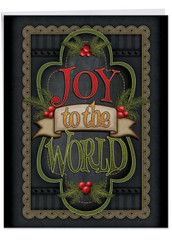 Chalk Up Another Holiday, Jumbo Christmas Greeting Card - J3297IXSG