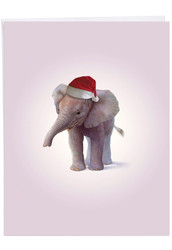 Zoo Babies, Jumbo Christmas Greeting Card - J6726DXSG