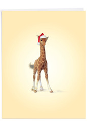 J6726FXS - Christmas Zoo Babies: Large Note Card