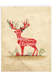 Holiday Knockout, Extra Large Christmas Note Card - J6666AXSG