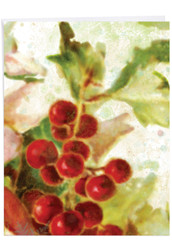 Holly Days, Extra Large Christmas Thank You Note Card - J6062GXTG