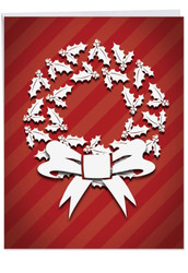J6011GXS - Holly Dimensions: Over-sized Paper Card