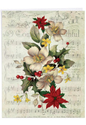 Holly Notes, Extra Large Christmas Thank You Greeting Card - J6650DXTG