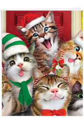 Merry Christmas To Zoo - Cats, Extra Large Christmas Note Card - J6652HXSG