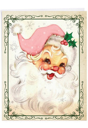 Pink Kringle, Jumbo Christmas Note Card - J6695CXSG