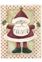 Santa Banners, Extra Large Christmas Note Card - J6659BXSG