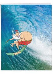 J9631BXS - Surfing Santa: Giant Note Card