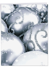 Visions In Silver, Extra Large Christmas Note Card - J3961CXSG