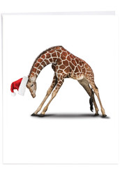 J6547BXS - Yuletide Zoo Yoga: Giant Printed Card