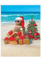 Season's Beachin', Extra Large Christmas Note Card - J6651EXSG