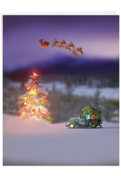 Toy Trucks 'N Trees, Jumbo Christmas Note Card - J6689CXSG