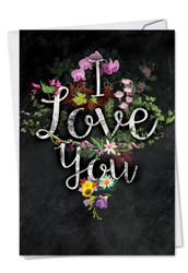 C2358DVD - Chalk And Roses: Paper Card