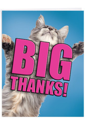 J2368DTY - Cat Big Thanks: Large Note Card