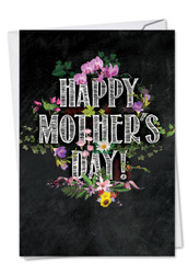 C2358FMD - Chalk And Roses: Greeting Card