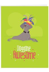 J6586ICG - Doggone Awesome Notes: Jumbo Printed Card