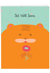 Fur You, Jumbo Get Well Note Card - J6584GGWG