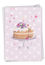 Watercolor Cake, Printed Anniversary Greeting Card - C2984EANG